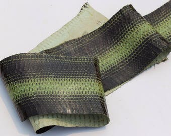 Printed skin of snake leather leather