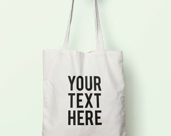 Personalised Design Tote Bag Long Handles TB0142