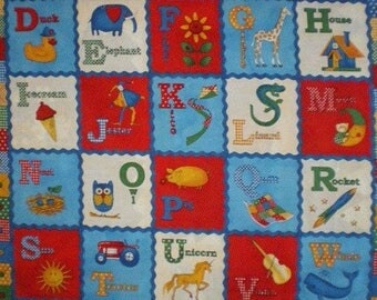 child quilt Panel representing an ABC