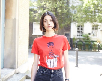The 90s Graphic Girl T Shirt(Red)