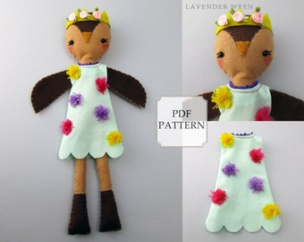 felt pattern, felt bird pdf, plush pattern, owl doll, owl decor, owl gifts, owl sewing, owl sewing pattern, toy owl pdf, plush owl kids