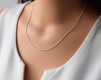 Dainty Silver Necklace,Silver Delicate Necklace, Layering Necklace, Sterling Silver Necklace, Everyday silver Necklace, Minimalist Necklace