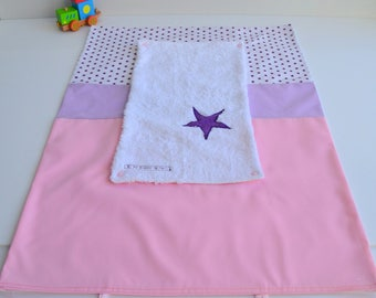 Mattress cover diaper sponge made handmade Star Pink Purple and Violet @lacouturebytitia