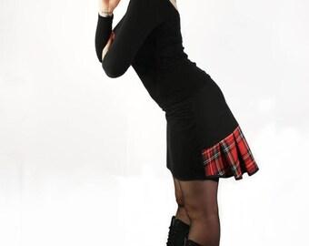 'blink 'up' pine' Scottish print pencil skirt up rock clothing
