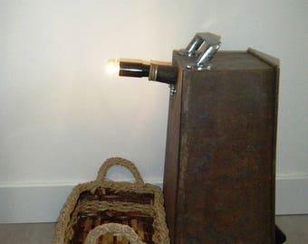 Lamp laundry baskets, upcycled and unusual diversion magazine holder