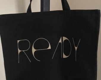 Black READY Large Tote