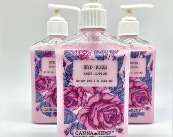 Hyd.Rose - 8oz Hemp Body Lotion - Organic Oils