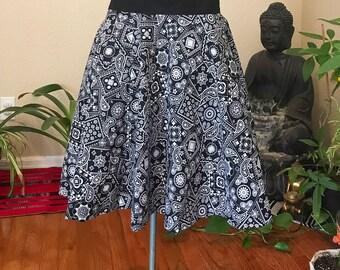 Paisley Midi swing skirt