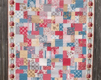 Squares and Rectangles - Machine Quilted Quilt