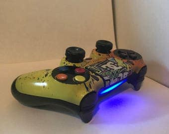 3 color new controller w/ painted buttons (all consoles)