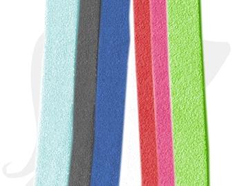Suede - different colors - lanyard strap 10mm - LAIS10 faux suede