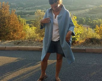 Retro coat in cotton canvas
