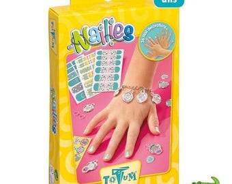 Box for kids - Nail art and child bracelet - 3 years and + - new and wrapped