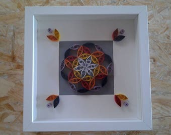 Multicolor quilling Board style mandala
