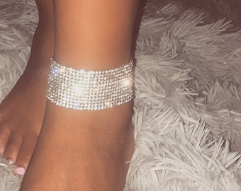 Crystal Anklet Cuff