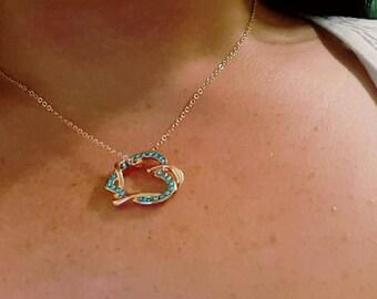 Crisscross Heart Pendant Necklace