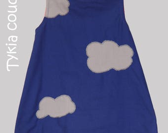 Clouds - Girl - to order a line dress