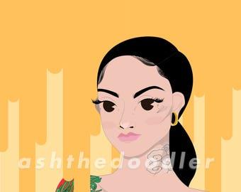 Kehlani Art | Fan Art | Decor | Hip Hop Poster | Personal | Gift | Print | Digital File | Illustration | Drawing | Music Print