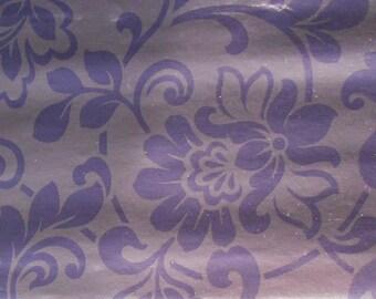 Purple baroque oilcloth metallic