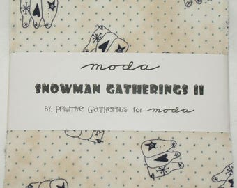 "Patchwork charm pack by moda - ""Snowman Gatherings 2""."