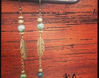 Earring bronze ethnic inspiration