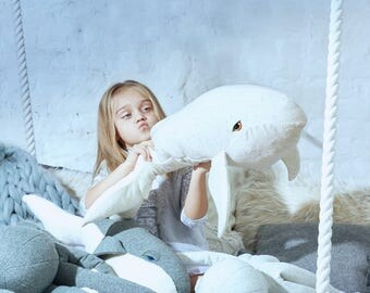 big white/white whale stuffed toy, stuffed animal, handmade toy, toys, eco friendly toy, stuffed whale, gift