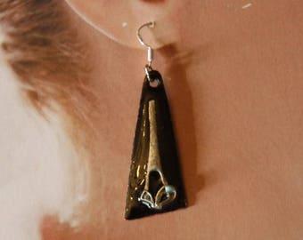 enamel earring pair