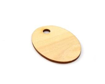Flat Oval Pendant blank 3, 8 x 2, 8cm
