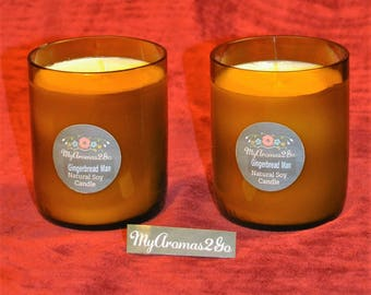 Natural Soy Candle in Recycled wine bottle