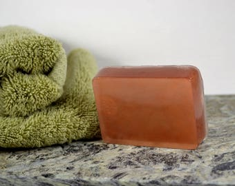 Glycerin Copper Soap, Fresh Linen Scent, Shimmer Soap, Palm Free Soap, Fresh Linen Soap, Handmade Soap,  Soap Bar, Bronze Shimmer Bar Soap
