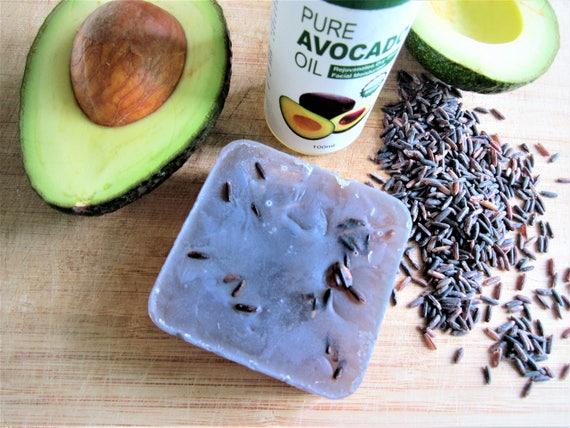 Black Rice & Avocado Natural Homemade Bar Soap by Shawn's Soaps