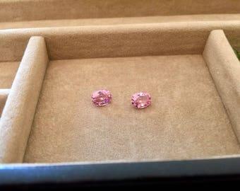 2.80 TCW IF PAIR of Vivid Pink 100% Natural Spinel - Flawless gemstones