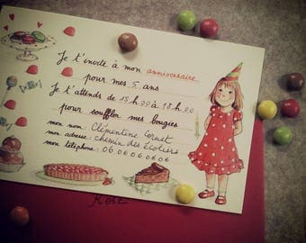 a girl birthday invitation cards