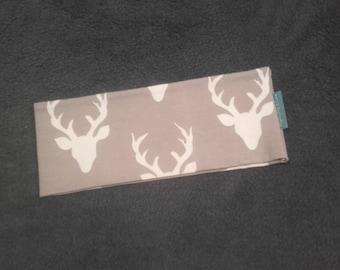 Beige deer printed sport grey headband