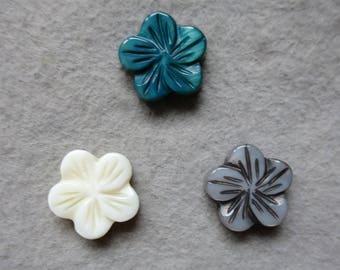 Shell flower bead