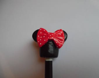 Minnie with polymer clay pen tip