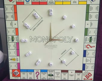 Monopoly Clock Vintage Board Game