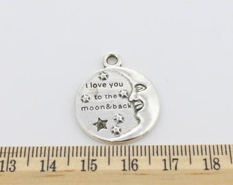 4 I Love You to the Moon and Back Charms - EF00123