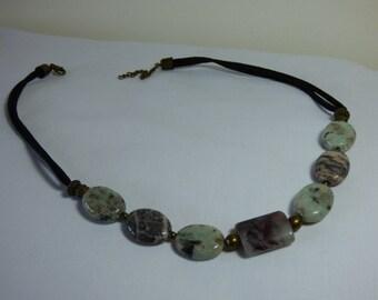 Jasper and Quartz Choker necklace