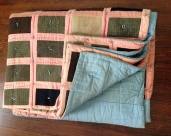 Old Menswear Wool Quilt