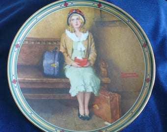 "Vintage Bradford Exchange Collectible Plate (circa 1985) - ""A Young Girl's Dream"" - Norman Rockwell"