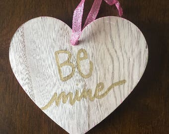 Be Mine Wooden Conversation Heart