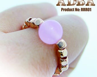 Adjust Freely Rings- Rose quartz(No need to consider the rings size!)