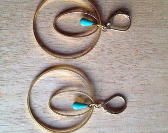 EMILY - Blue stud earring earrings