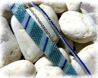 shades of blue Cuff Bracelet