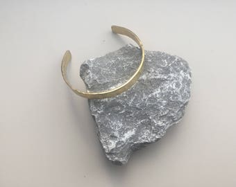 Brass hammered cuff, bracelet, bangle, gift,
