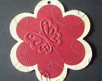 SCRAPBOOKING Lot Punch big flower Butterfly tag