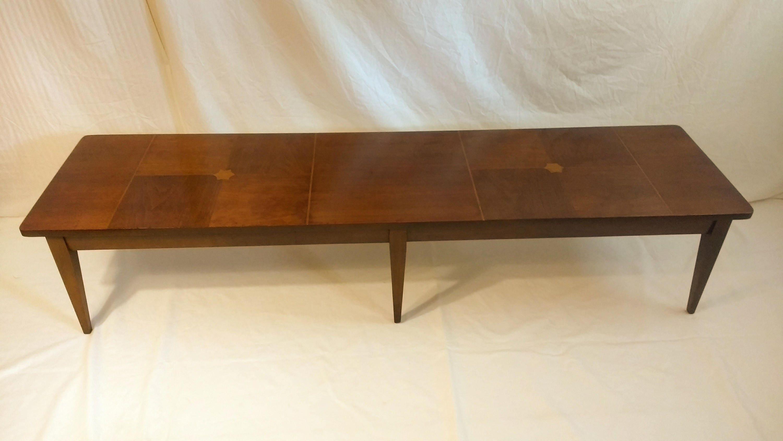 Mersman long inlaid coffee table mid century modern walnut description long mersman coffee table geotapseo Choice Image
