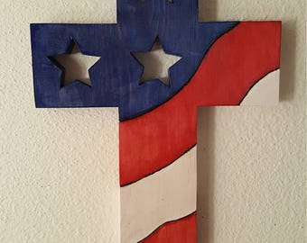 American Flag Cross created by TheFurbeeWorkshop
