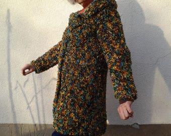 long women jacket faux fur T 40/42